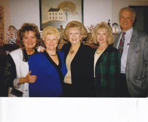 Some of the CLASS Staff: Ann Downing, Betty Southard, Florence Littauer in the middle, myself, and the late Fred Littauer